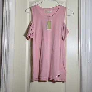 Michael Kors Pink Cold Shoulder Top